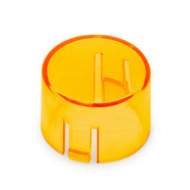 Mix & Match Seimitsu PS-14-DNK Translucent 24mm Convex Cap: Orange
