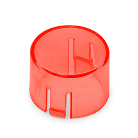 Mix & Match Seimitsu PS-14-DNK Translucent 24mm Convex Cap: Red