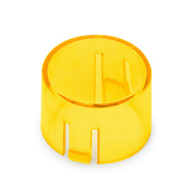 Mix & Match Seimitsu PS-14-DNK Translucent 24mm Convex Cap: Yellow
