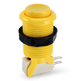 Suzo Happ Concave Long Stem Pushbutton - Yellow