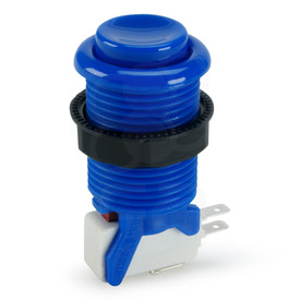 Suzo Happ Concave Long Stem Pushbutton - Blue