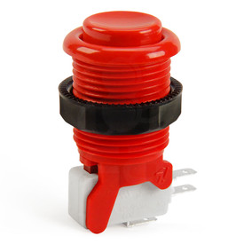 IL PSL-H Concave Short Stem Pushbutton - Red