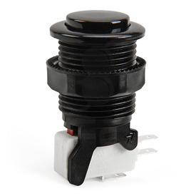 IL PSL-CV Convex Short Stem Pushbutton - Black