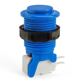 IL PSL-CV Convex Short Stem Pushbutton - Blue