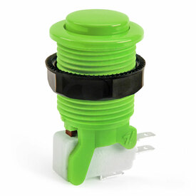 IL PSL-CV Convex Short Stem Pushbutton - Green