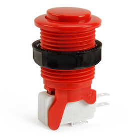 IL PSL-CV Convex Short Stem Pushbutton - Red
