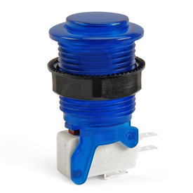 IL PSL-CV Convex Translucent Short Stem Pushbutton - Blue
