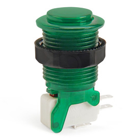 IL PSL-CV Convex Translucent Short Stem Pushbutton - Green