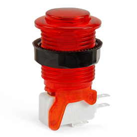 IL PSL-CV Convex Translucent Short Stem Pushbutton - Red