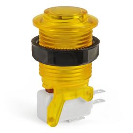 IL PSL-CV Convex Translucent Short Stem Pushbutton - Yellow