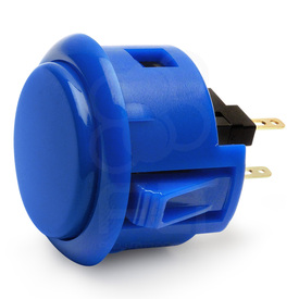 Sanwa OBSF 30mm Pushbuttons Royal Blue