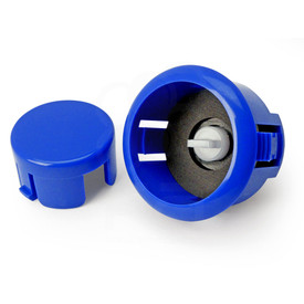 Sanwa OBSFS Silent 30mm Pushbuttons: Royal Blue
