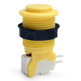 IL PSL-CV Convex Short Stem Pushbutton - Yellow