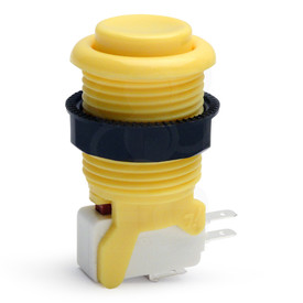 IL PSL-H Concave Short Stem Pushbutton - Yellow