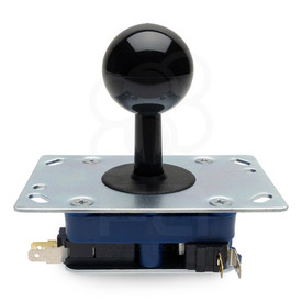 "Seimitsu LS-38-SC-K .187"" High Tension Spring Fastener Joystick with Black Shaft Cover & Flat SE/RE Plate"