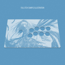 "Custom Etch and Cut Plexi Cover for MadCatz T.E.2, T.E.2+ (Generation 1 1/16"" Adjusted)"