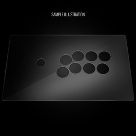 "Blank Plexi Artwork Cover for MadCatz T.E.2, T.E.2+ (Generation 2 1/40"")"
