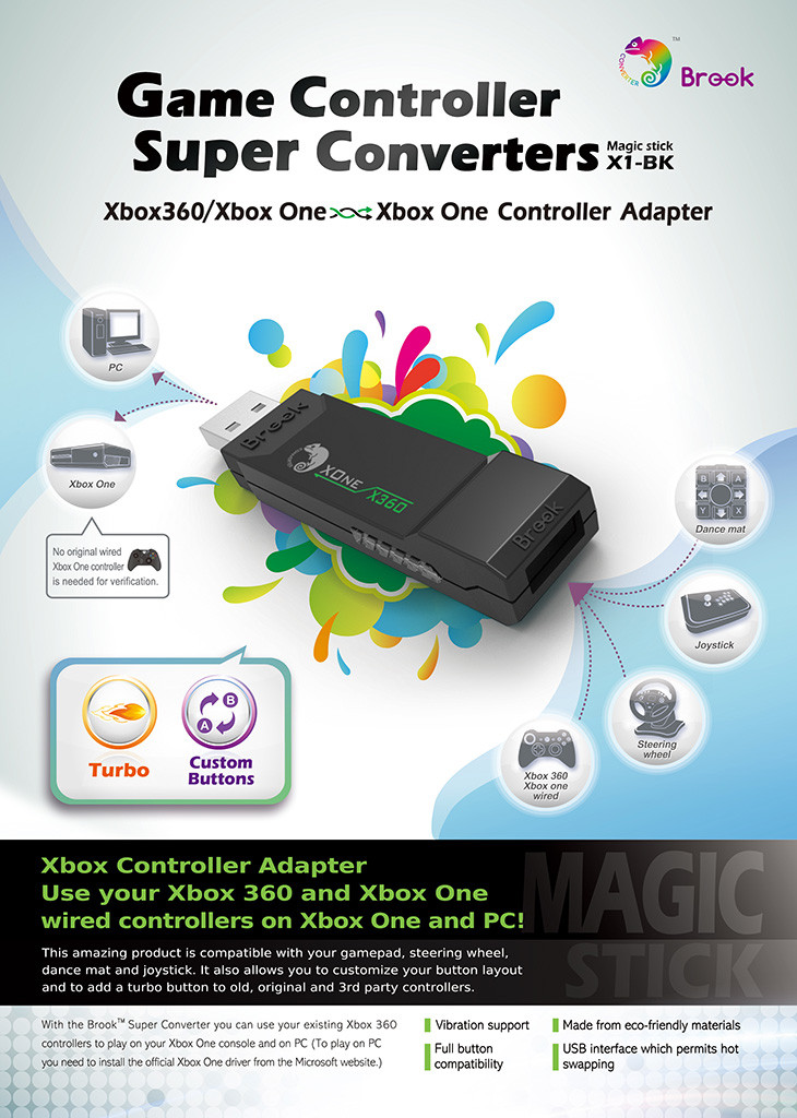 Brook Super Converter: Xbox 360 to Xbox One USB Adapter
