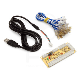 PS3/PC Zero Delay USB Encoder PCB: American Style Controls