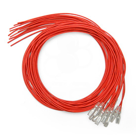 Red 16pc 22 AWG Wire with .187 Quick Disconnect