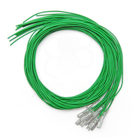Green 16pc 22 AWG Wire with .187 Quick Disconnect