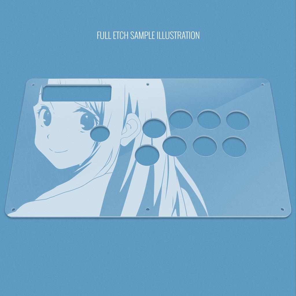 Custom Etch Plexi Cover for MadCatz TE (Round 1, Round 2, TE-S+ for ...