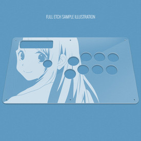 Custom Etch Plexi Cover for MadCatz TE (Round 1, Round 2, TE-S+ for Xbox 360)