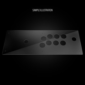 Blank Plexi Artwork Cover for Hori RAP4 Kai, RAPV (Non-Import) Kai
