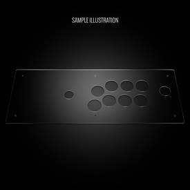 Blank Plexi Cover for Hori RAP V3-SA VX-SA