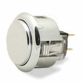 Sanwa OBSJ 30mm Pushbutton Metallic Silver