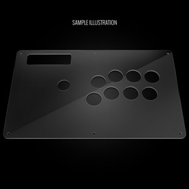 Blank Plexi Artwork Cover for MadCatz TE (Round 1)
