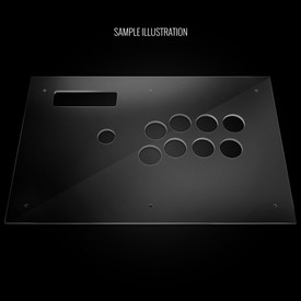 Blank Plexi Artwork Cover for MadCatz TE-S