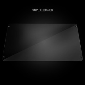 Blank Bottom Plexi Artwork Cover for MadCatz SFxT/Pro
