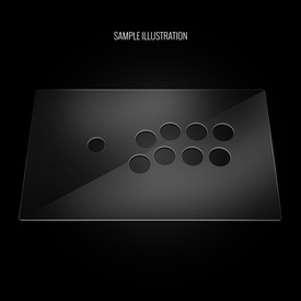 "Blank Plexi Cover for MadCatz T.E.2, T.E.2+ (Generation 1 1/16"" Adjusted)"