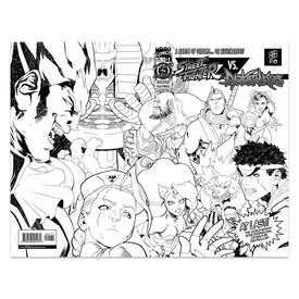 Udon Street Fighter VS. Darkstalkers Issue #1 (FA Exclusive Black/White Cover)
