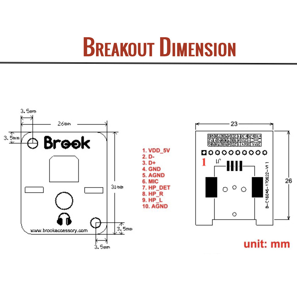 Breakout Board Specifications and Pinout