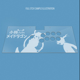 Custom Etch and Cut Plexi Artwork Cover for Qanba Dragon
