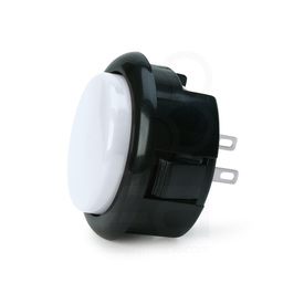Seimitsu PS-15 Low Profile Pushbutton White/Black