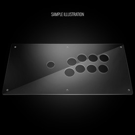 Blank Plexi Artwork Cover for Qanba Crystal, Q2 Glow