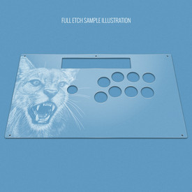 Custom Etch Plexi Cover for Razer Panthera