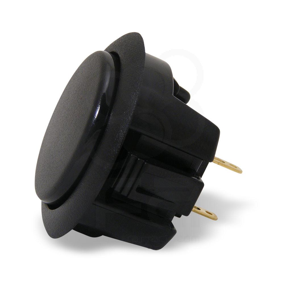 Hori Hayabusa Matte 30mm Snap-In Pushbutton (Black)