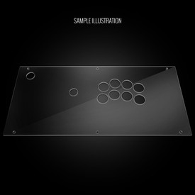 Blank Plexi Artwork Cover for Hori Fighting Edge (PS3/Xbox360 Model)