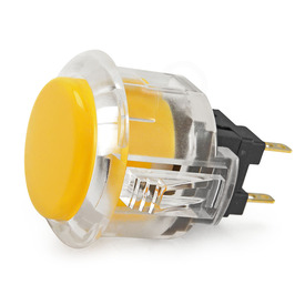 Sanwa OBSC 24mm Pushbutton Clear Rim/Solid Plunger - Yellow