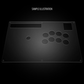 Blank Plexi Artwork Cover for Hori RAP N
