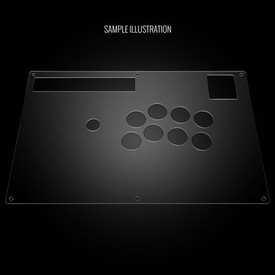 Blank Plexi Artwork Cover for Hori RAP DOA5, NA-S3