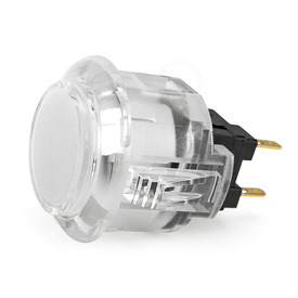 Sanwa OBSC 24mm Translucent Pushbutton - Clear