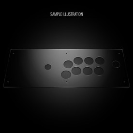 Blank Plexi Cover for Hori RAP V (Japan Import)