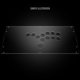 Blank Plexi Cover for HitBox (PS3/PS4 version)