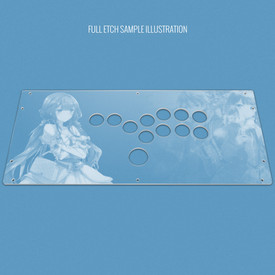 Custom Etch and Cut Plexi Artwork Cover for HitBox (PS3/PS4 version)