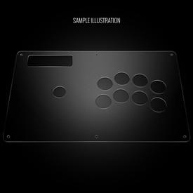 Blank Plexi Cover for MadCatz Soul Calibur V SOUL Edition Regular